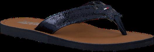 Blauwe Tommy Hilfiger Slippers GLITTER BEACH SANDAL