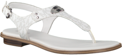 Witte Michael Kors Sandalen Mk Plate Thong