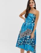 Closet - Strapless jurk-Blauw